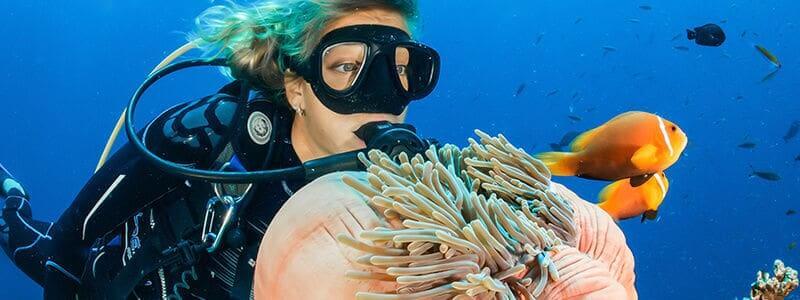 scuba woman diver